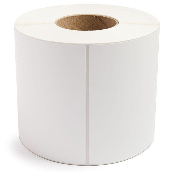 "6"" x 6"" White Matte Paper - Thermal Transfer Labels - 3"" Core"