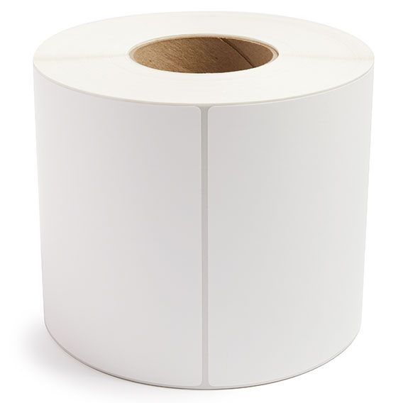 "6"" x 8"" White Matte Paper - Thermal Transfer Labels - 3"" Core"