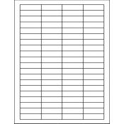 """1.75"""" x 0.5"""" - Laser Sheet Labels (80-Up)"""