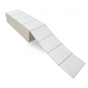 """5"""" x 3"""" White Matte Paper - Thermal Transfer Labels - Fanfold"""