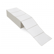 """6"""" x 4"""" White Matte Paper - Thermal Transfer Labels - Fanfold"""
