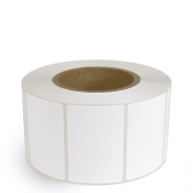 "3"" x 2"" White Gloss Paper - Inkjet Labels - 3"" Core"