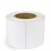 "4"" x 6"" White Gloss Paper - Inkjet Labels - 3"" Core"