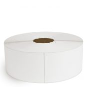 """4"""" x 13"""" White Matte Paper - Thermal Transfer Labels - 3"""" Core / 12"""" Outer Diameter (No Perf)"""