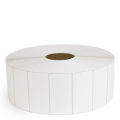 """4"""" x 2"""" White Matte Paper - Thermal Transfer Labels - 3"""" Core / 12"""" Outer Diameter (No Perf)"""