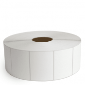 """4"""" x 3"""" White Matte Paper - Thermal Transfer Labels - 3"""" Core / 12"""" Outer Diameter (No Perf)"""