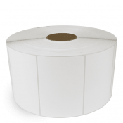 """6"""" x 4"""" White Matte Paper - Thermal Transfer Labels - 3"""" Core / 12"""" Outer Diameter (No Perf)"""