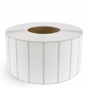 "4"" x 1"" White Matte Paper - Thermal Transfer Labels - 3"" Core"