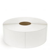 """4"""" x 5"""" White Matte Paper - Thermal Transfer Labels - 3"""" Core / 12"""" Outer Diameter (No Perf)"""