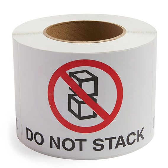 Do Not Stack - Preprinted Labels
