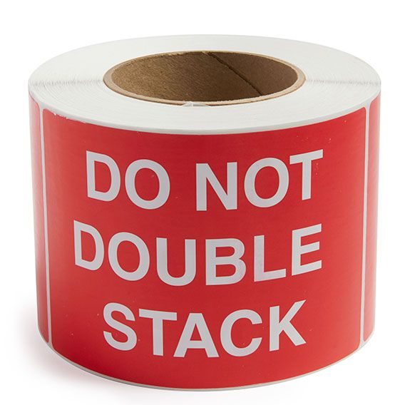 Do Not Double Stack - Preprinted Labels