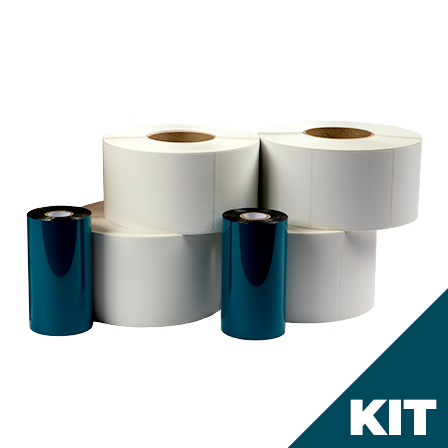 4x6 - Thermal Transfer Label And Ribbon Kit