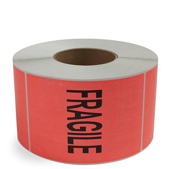 Fragile Preprinted Label