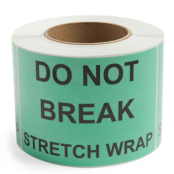Do Not Break Stretch Wrap - Preprinted Labels