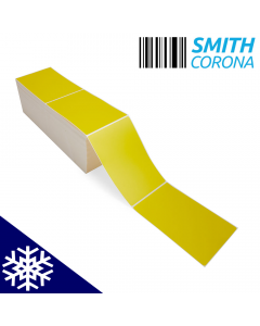 <span><span>4 x 6</span></span> Yellow - Freezer Grade - Fanfold Thermal Transfer Labels