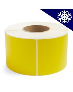 <span><span>4 x 6</span></span> Yellow Direct Thermal Labels - Freezer Adhesive