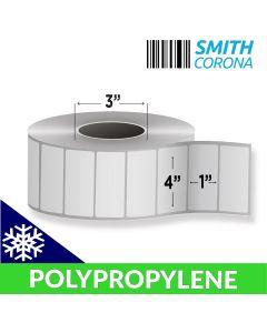 <span><span>4 x 1</span></span> Polypropylene (Freezer Grade) - Direct Thermal Labels - 3