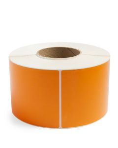 "4"" x 6"" Orange - Direct Thermal Labels - 3"" Core"