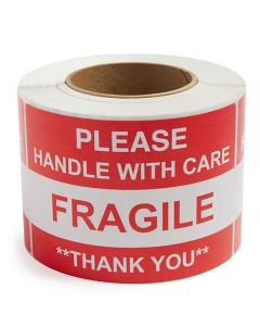 Fragile Handle With Care - Preprinted Labels