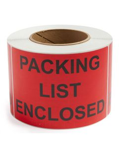 Packing List Enclosed - Preprinted Label
