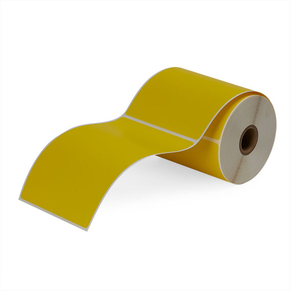 """4"""" x 6"""" Yellow - Direct Thermal Labels - 1"""" Core"""