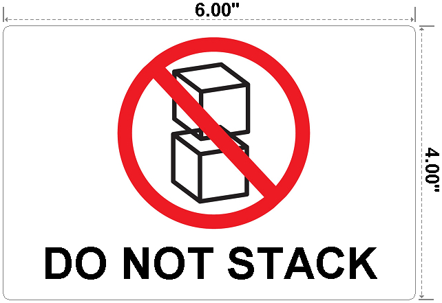 Do Not Stack - Preprinted Labels-3