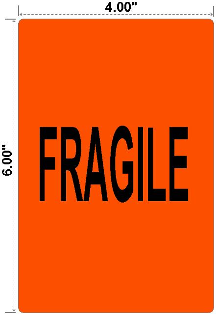 Fragile - Preprinted Labels-3