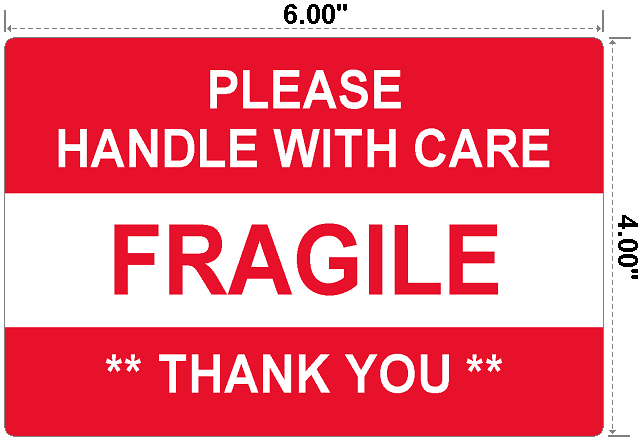 Fragile Handle With Care - Preprinted Labels-3