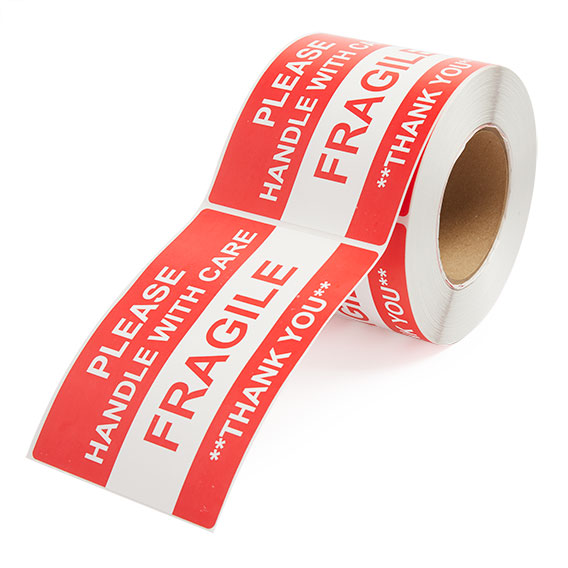Fragile Handle With Care - Preprinted Labels-2