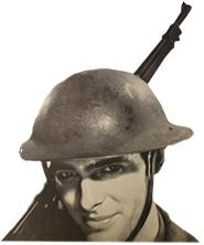 Vintage print of an American world war 2 soldier