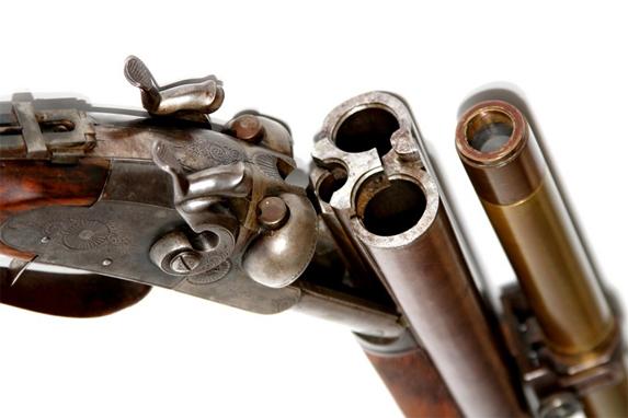 Smith Double-Barrled Hammer-less Shotgun